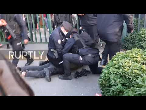 Turkey: Students clash with police as they protest against Erdogan-picked uni rector