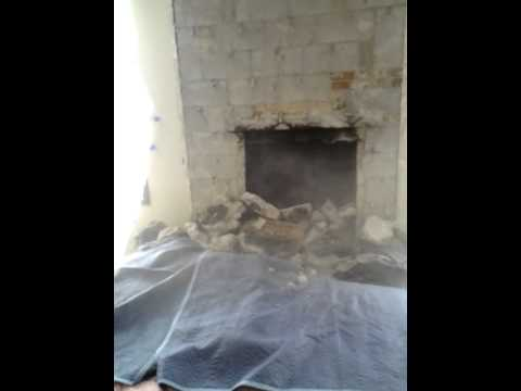 Lava Rock Fireplace Crash Demo