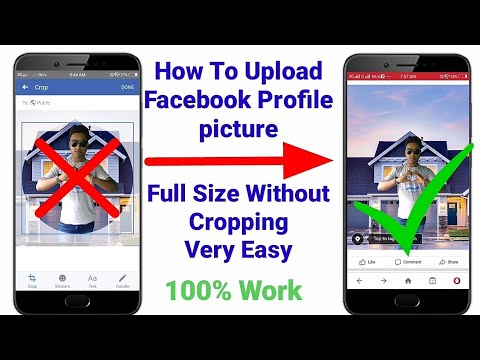 How To Upload Full Size Facebook Profile Picture Without Crop | Facebook Full Profile Picture 2019