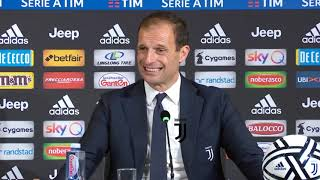 CONFERENZA ALLEGRI RACCONTA L'ADDIO E I 5 ANNI ALLA JUVENTUS POST JUVE ATALANTA 1-1