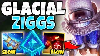 *LAND Q FOR FREE* GLACIAL ZIGGS HAS AOE SLOWS! THIS IS BUSTED - League of Legends