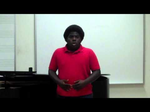 DaShawn Williams, tenor - Wayfaring Stranger arranged by John Jacob Niles
