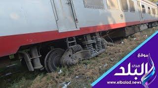 صدى البلد | اصغر مصابة بحادث قطار البدرشين : كنت نائمه بجانب والدى اثناء انقلاب القطار