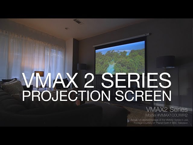 Elite Screens VMAX 2 Series Screen - A Simple. Effective. Projection Screen