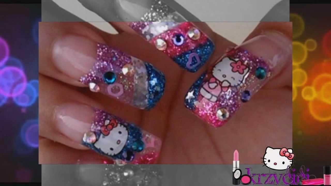 kitty acrylic nails