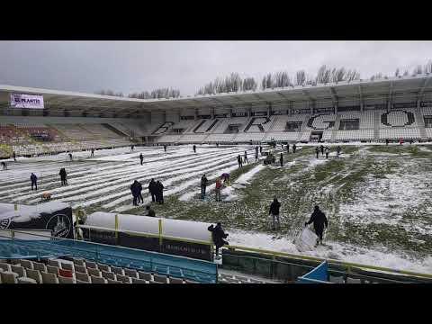 Limpieza de la nieve en El Plantío