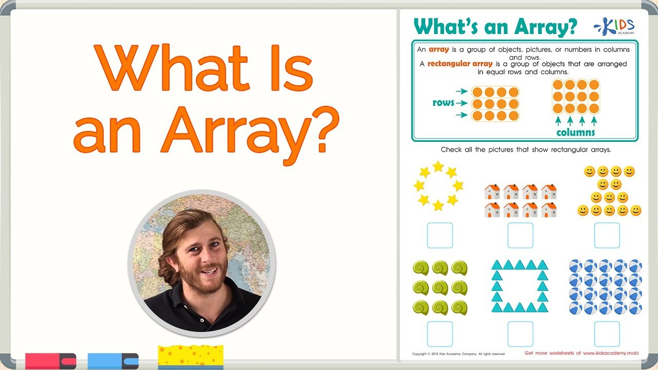 Arrays for Kids   Math for 2nd Grade   Kids Academy - YouTube [ 720 x 1280 Pixel ]