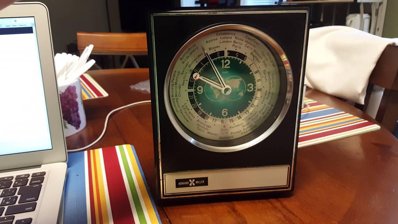 Howard Miller Brw300 Space Age Executive Desk World Clock