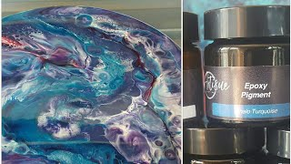 Resin art dirty flip cup pour- Huge cells just by using epoxy pigments by ArtiSue !