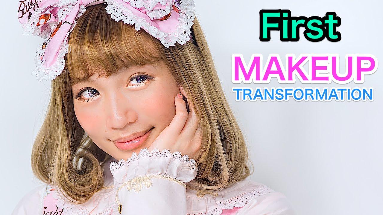 Japanese Gyaru To Kawaii Lolita Makeup Transformation Tutorialjura