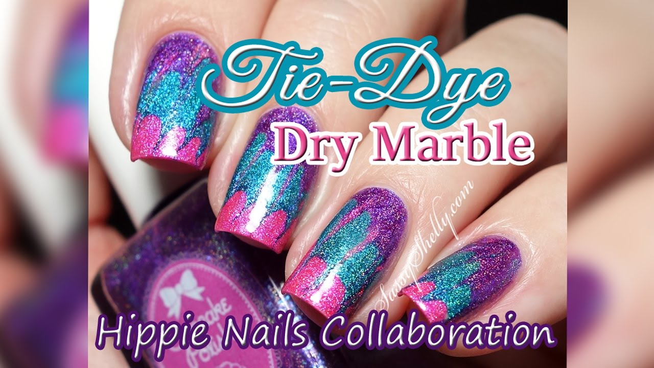 Tie dye dry marble drag marble hippie nail art yt nail girlz tie dye dry marble drag marble hippie nail art yt nail girlz collab prinsesfo Choice Image
