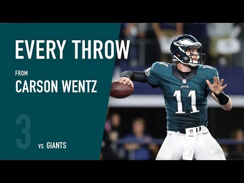 Carson Wentz vs. New York Giants (Week 3, 2017)