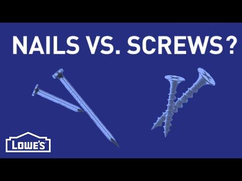 When Do I Use Nails vs. Screws?   DIY Basics