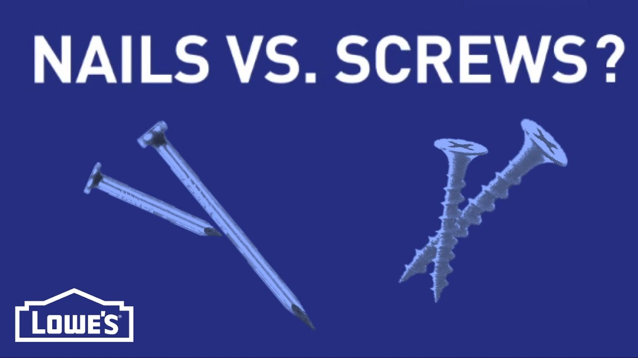 When Do I Use Nails vs. Screws? | DIY Basics - YouTube