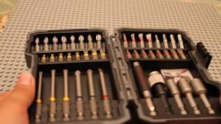 Распаковка и обзор набора насадок-бит 43 шт. от Bosch
