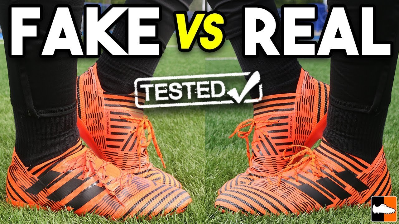 8ea60811c5c9 Can you tell the FAKE Nemeziz From the REAL adidas Boot ! - YouTube