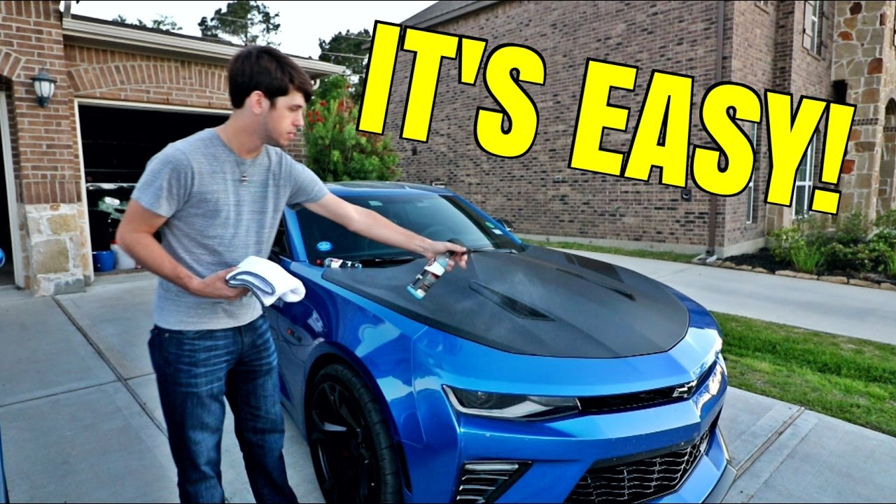 How To Clean Amp Take Care Of Vinyl Wrap On A Car Youtube