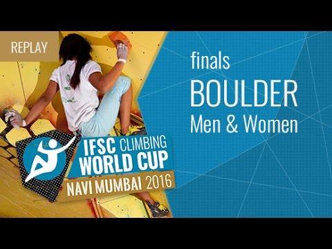 IFSC Climbing World Cup Navi Mumbai 2016 - Bouldering - Finals - Men/Women