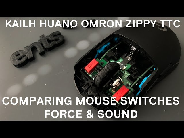 Comparing Mouse Switches – Force and Sound! Kailh, Huano, TTC, Zippy, Omron