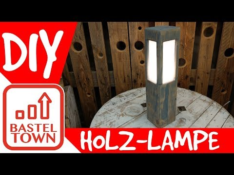 Holz Lampe selber bauen: Mit Altholz & Plexiglas schöne Vintage-Lampe bauen