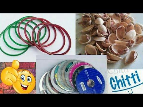 Gorgeous jewelry box making | Bangles reuse idea | pista shells crafts | diy pista shell box