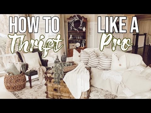HOW TO THRIFT LIKE A PRO  (Entire Living Room Under $500)