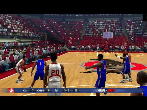 2K Sports College Hoops NCAA 2K7 #2 Kansas Jayhawks vs #1 Ohio State Buckeyes Retro Game