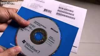 Microsoft Windows 7 Pro Unboxing