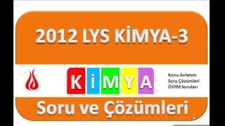 LYS 2012 Kimya Soru ve Çözümleri-3 (21-30)