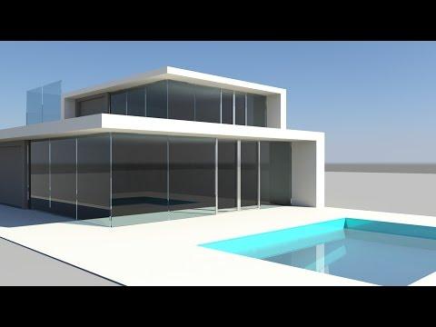 Maya tutorial : Modeling a modern villa