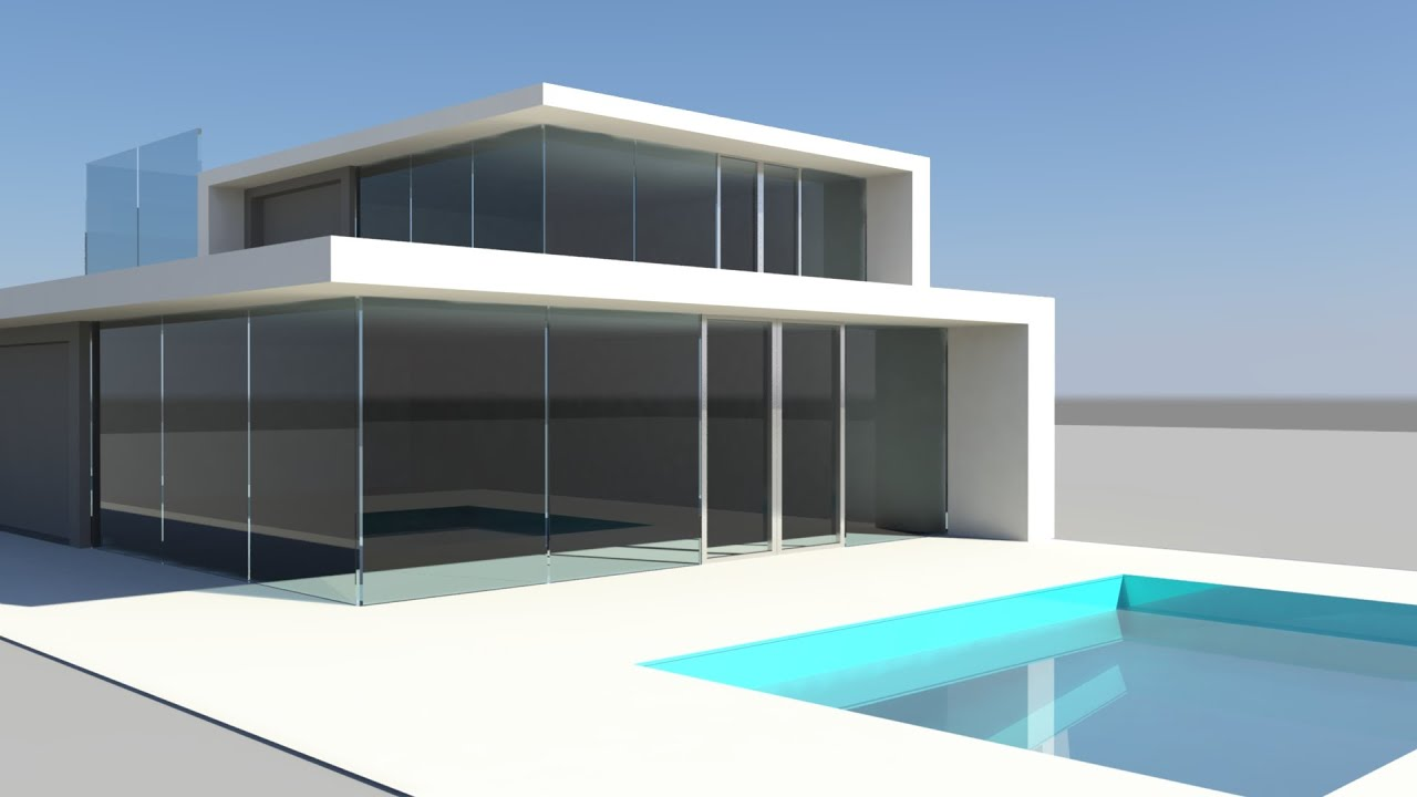 Maya Modeling 3D Model of House