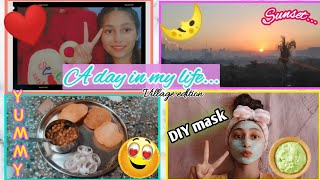 A Day In My Quarantine Life (village edition) ♥evening to night routine♥🌛DIY face pack|Unique kittu