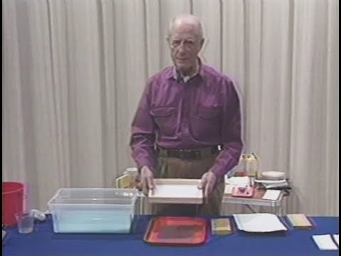 Dip Into Papermaking! Basic Steps: How to Use a 'Dip' Handmold