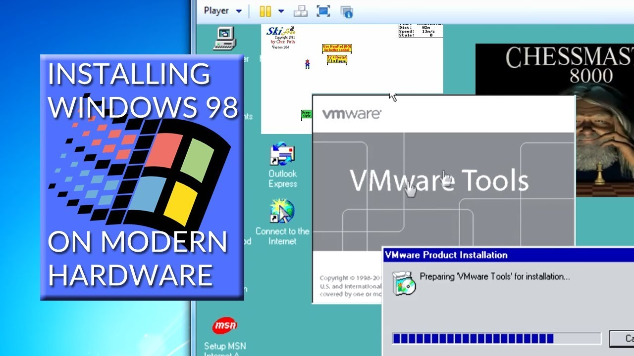 How to install Windows 98 to play and record retro PC games + VMWare audio  fix - Matto-san