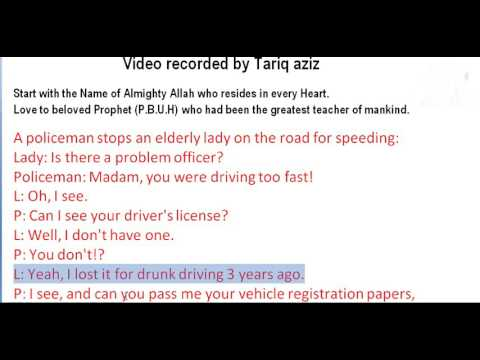 Story Of the week Police Vs Lady In English With Urdu Translation By Tariq