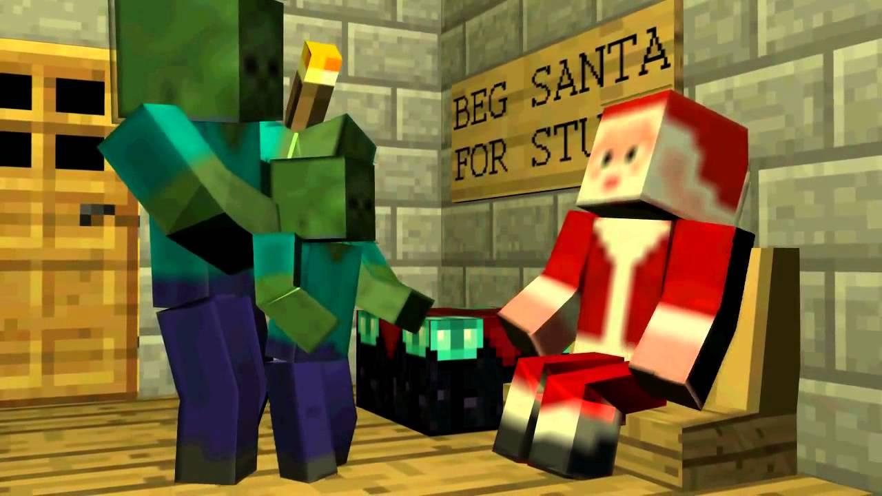 Christmas Minecraft Santa.Minecraft Santa Zombie