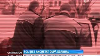 Politistul nervos filmat intr-o sectie de politie, cercetat de sefii sai