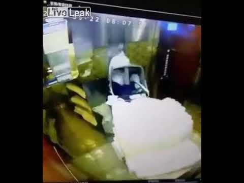 ELEVATOR RIDE GONE HORRIBLY WRONG, WARNING GRAPHIC