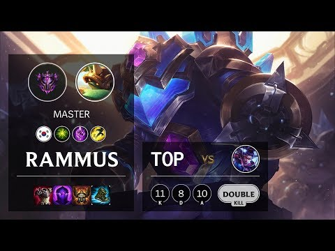 Rammus Top vs Vayne - KR Master Patch 10.8