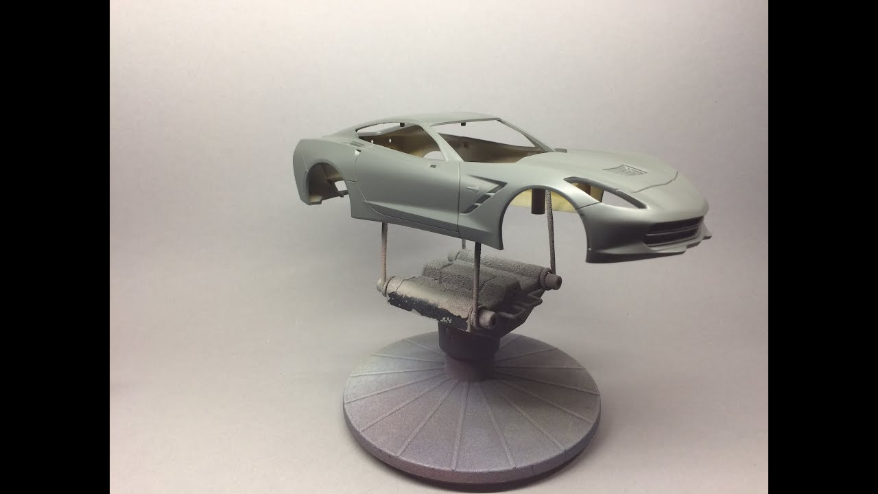 Revell: Corvette C7 Stingray Prepping Painting And Detailing The Body    YouTube
