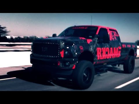 Vehicle Wrap Ford F 350 Lifted Super Duty Truck Wrap