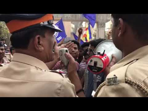 Bhima koregaon stone pelting, mumbai protest