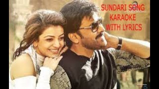 Sundari Karaoke Mp3 with lyrics From kaidi no 150 _ Telugu Karaoke Mp3