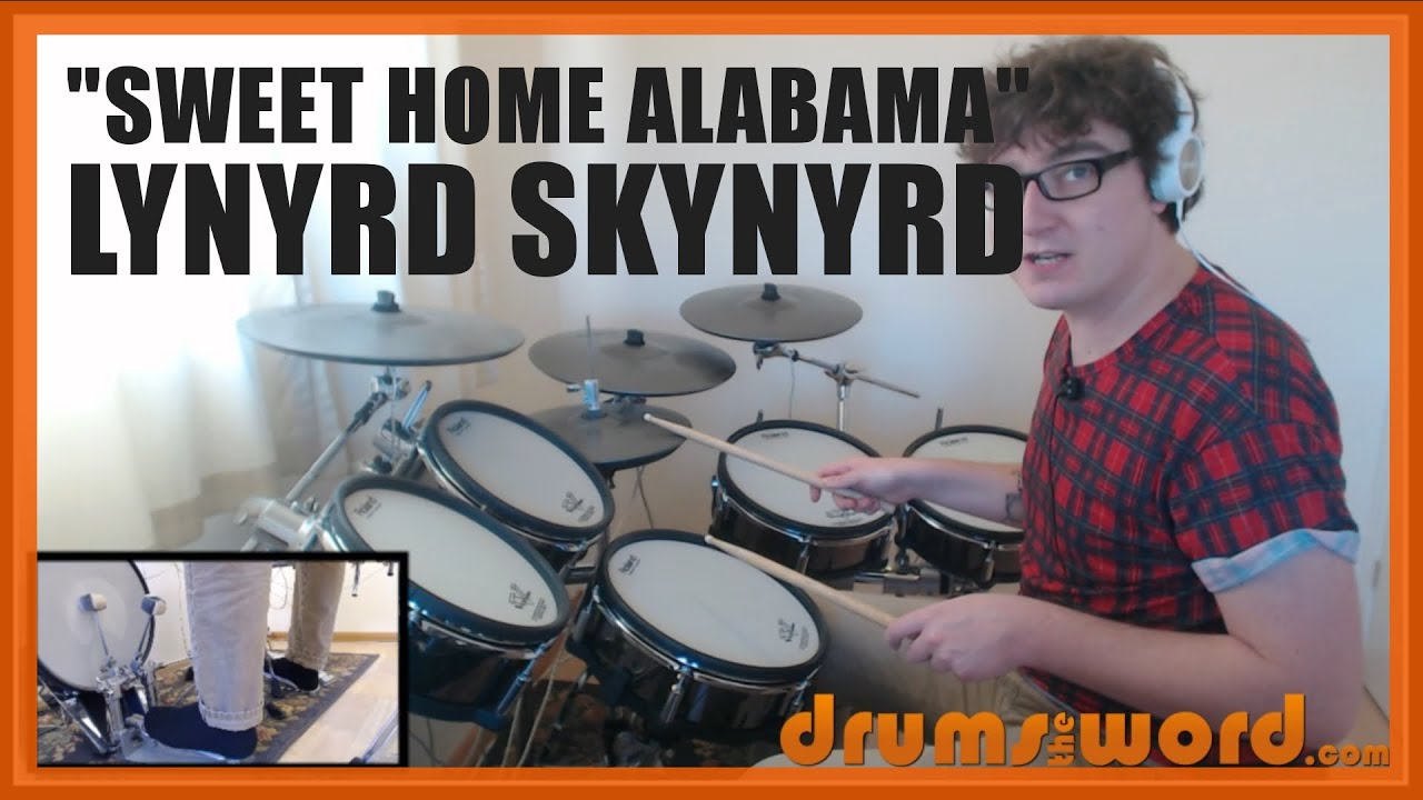 Sweet Home Alabama Lynyrd Skynyrd Drum Lesson Preview
