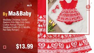 Top Christmas Dress For Baby Ideas: TRENDINAO Baby Girls Red Lace Princess Headband Dresses For
