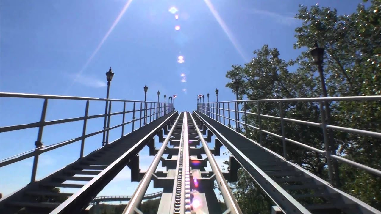 Shock Wave Roller Coaster POV Stand Up Front Seat View ...