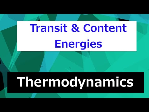 Transit and Content Energies // Thermodynamics - Class 33
