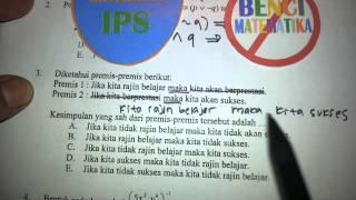 Logika Matematika-Pembahasan soal UN MATEMATIKA IPS No.3