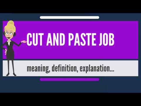 What is CUT AND PASTE JOB? What does CUT AND PASTE JOB mean? CUT AND PASTE JOB meaning