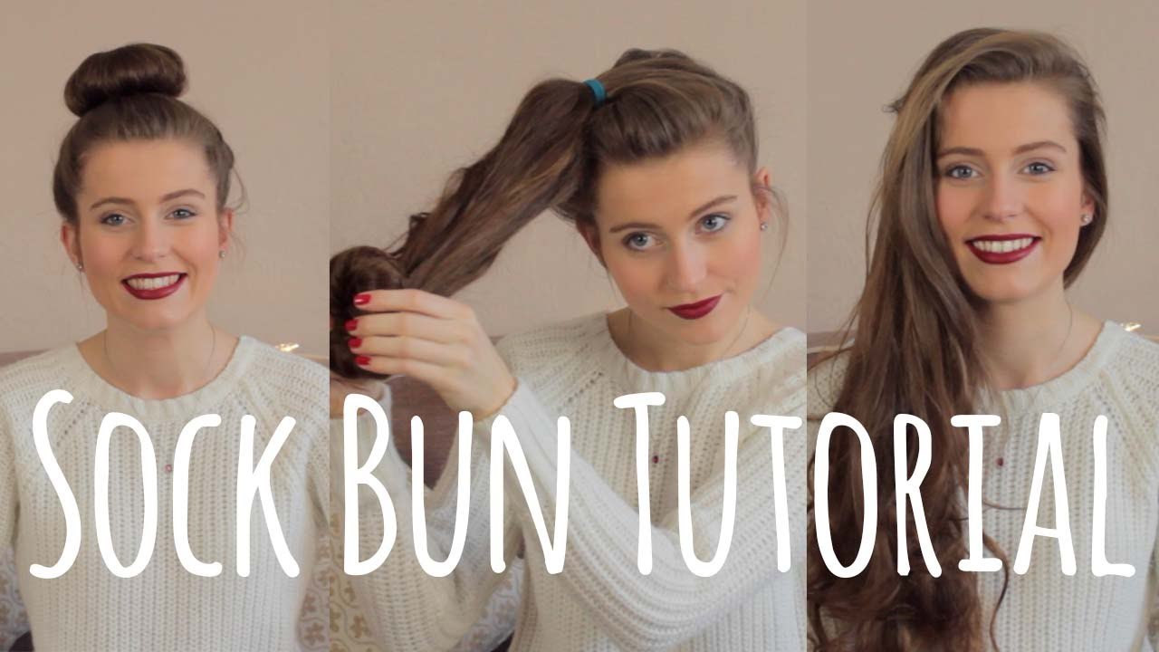 Curl Your Hair Without Heat Sock Bun Tutorial Ellesse